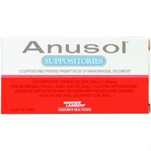 Anusol Suppos 12